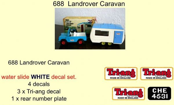 688 Tri-ang Landrover Caravan decal set